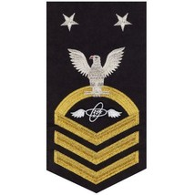 NAVY E9 MALE RATING BADGE: AVIATION ELECTRONICS TECHNICIAN(AT) - SEAWORT... - $36.61