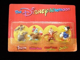 Disney Afternoon Figures Cereal Premium New Tale Spin Gummi Bears Chip'n... - $16.99