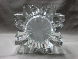 Mikasa Austria StarFire Crystal Clear Glass Star Quartz Round Clock Germany Made image 4