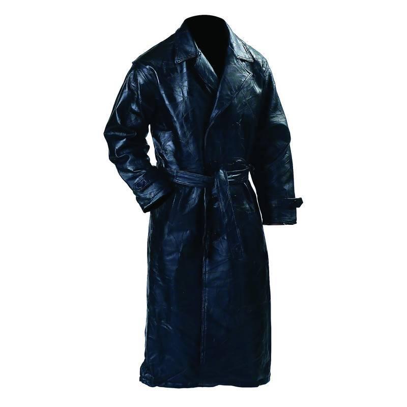 Giovanni Navarre® Italian Stone® Leather Trenchcoat