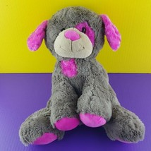 "Animal Adventure Plush Dog Puppy 18"" Stuffed Animal Brown Pink Spot Eye ... - $20.79"