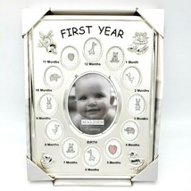 Malden Baby's 1st Year Picture Frame Silver 13 Openings - $10.88