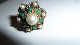 Cocktail Ring By Sara Covenrty Vintage 1950's - $25.00