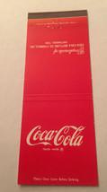 Vintage Matchbook Cover Matchcover Coca Cola Red - $2.49