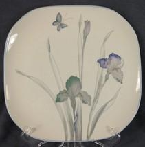 Sango Atrium 5306 Dinner Plates Iris Lavender Floral Quadrille Semi-Porcelain  - $17.95