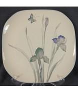 Sango Atrium 5306 Dinner Plates Iris Lavender Floral Quadrille Semi-Porc... - $17.95