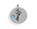74110 footprint charm with blue crystal thumb155 crop