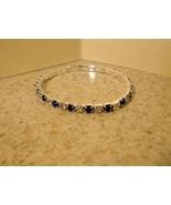 ennis Bracelet Blue Sapphire Faux Gemstone New ... - $10.99