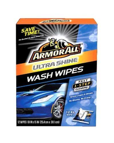 12CT Armorall Ultra Shine Wash Wipes