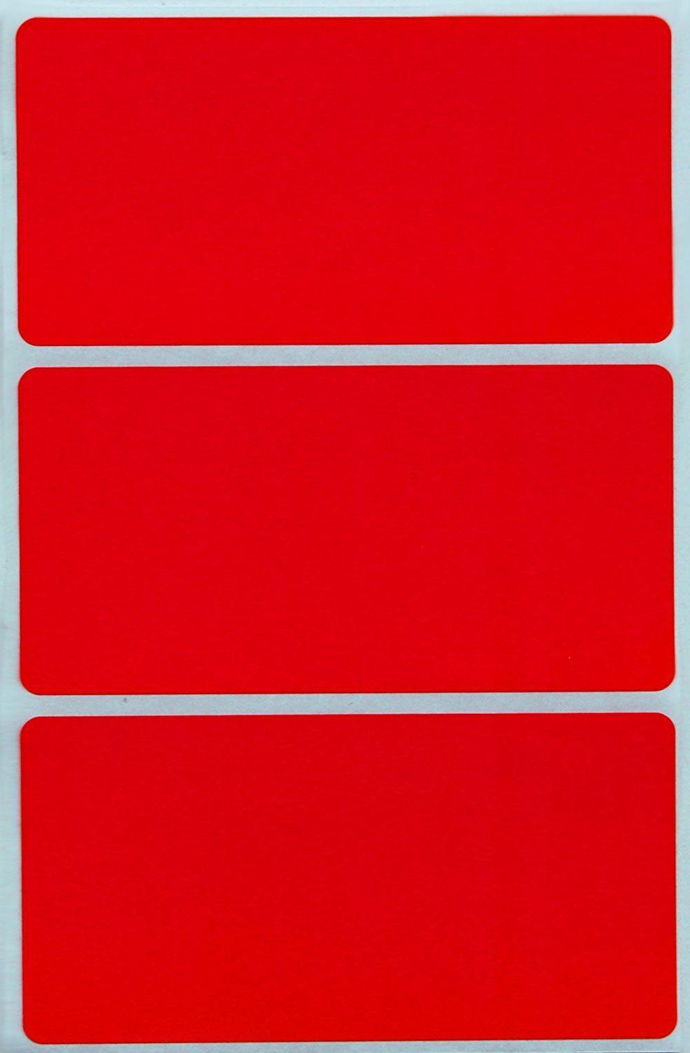 Office Supplies Rectangle Color Labels 102 x 51 mm Colored
