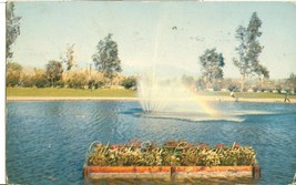 San Bernardino, California, lagoon, National Orange Show, 1956 used Postcard  - $5.99