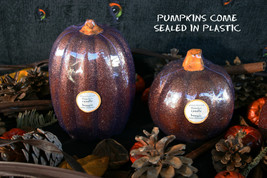 POTTERY BARN FLAMELESS PUMPKIN CANDLES (TWO) -NWT- PUT SOME SPARKLE IN Y... - $25.97