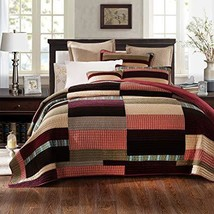 Da Da Bedding Warm Tones Patchwork Quilted Bedspread Set - Twin - $90.15