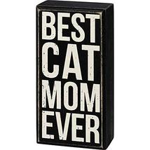 Primitives by Kathy Box Sign - Best Cat Mom Ever - $16.04