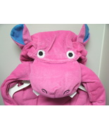PINK RHINO DOG Costume SM & L - NEW - Pink & Blue with Polka Dots - Velc... - $12.99