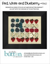 Red White and Blueberry 9862 button pack + FREE cross stitch chart JABC - $10.55