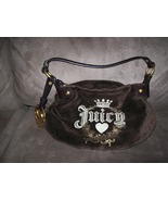 Juicy Couture Espresso Velour Hobo HandBag - $30.00