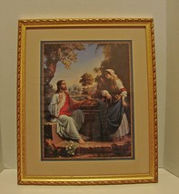 Jesus with Woman at The Well Print by Home Interiors Framed Ready to Hang - $39.00