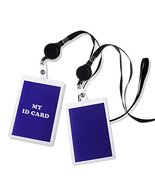 "2x Retractable Badge Reel Combo Lanyard ID Card Holder 18"" Long Neck Str... - $4.99"
