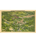 Airplane view of Sylva NC, unused linen Postcard - $4.99