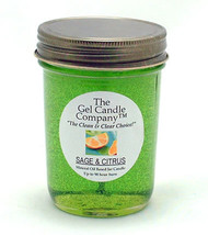Sage and Citrus 90 Hour Gel Candle Classic Jar - $8.96