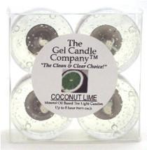 Coconut Lime Scented Gel Candle Tea Lights - 4 pk. - €3,86 EUR
