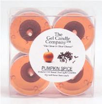 Pumpkin Spice Scented Gel Candle Tea Lights - 4 pk. - €3,86 EUR