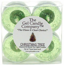 Christmas Tree Scented Gel Candle Tea Lights - 4 pk. - $4.46
