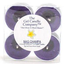 Nag Champa Scented Gel Candle Tea Lights - 4 pk. - €3,86 EUR