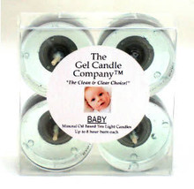 Baby Scented Gel Candle Tea Lights - 4 pk. - €3,90 EUR