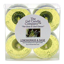 Lemongrass and Sage Scented Gel Candle Tea Lights - 4 pk. - $4.46