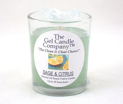 Sage and Citrus Scented Gel Candle Votive - $5.50