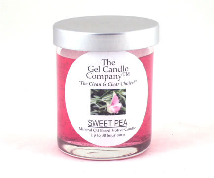 Primary image for Sweet Pea Scented Gel Candle Votive