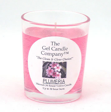 Primary image for Plumeria Scented Gel Candle Votive