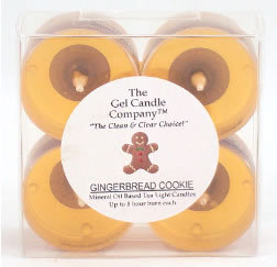 Primary image for Gingerbread Cookie Scented Gel Candle Tea Lights - 4 pk.