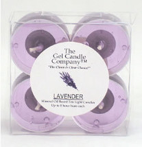 Lavender Scented Gel Candle Tea Lights - 4 pk. - $4.46