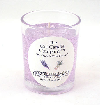 Primary image for Lavender Lemongrass Scented Gel Candle Votive