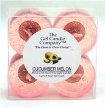 Cucumber Melon Scented Gel Candle Tea Lights - 4 pk. - $4.46