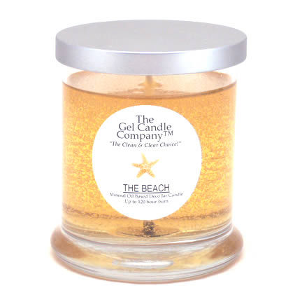 Primary image for The Beach Scented Gel Candle - 120 Hour Deco Jar