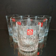 6 (Six) Royal Crystal Rock (RCR) Crystal Double Old Fashioned Glasses NE... - $28.49