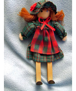 Doll Handcrafted Wooden Shelf-Sitter  - $4.49