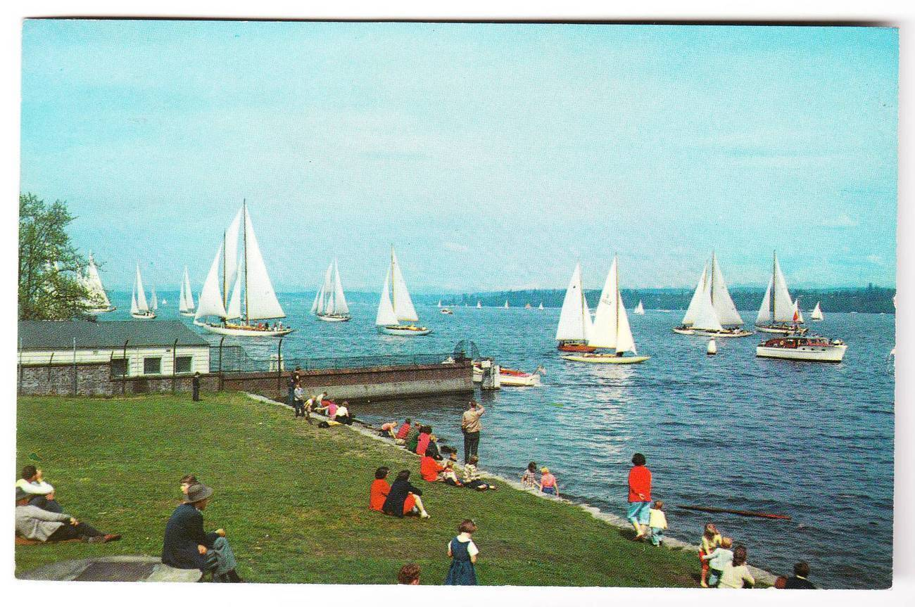 1967 postcard lake washington seattle