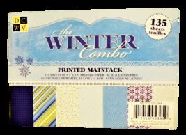 DCWV The Winter Combo Printed Matstack Cardstock
