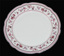 4 Beautiful Grace's Teaware Pink Roses Gold Accents Scalloped Dinner Plates NEW - $69.99