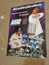 DJ Battle Maitre des Dancefloors Autographed Mini Poster 8-1/4 x 11-3/4 - $49.99