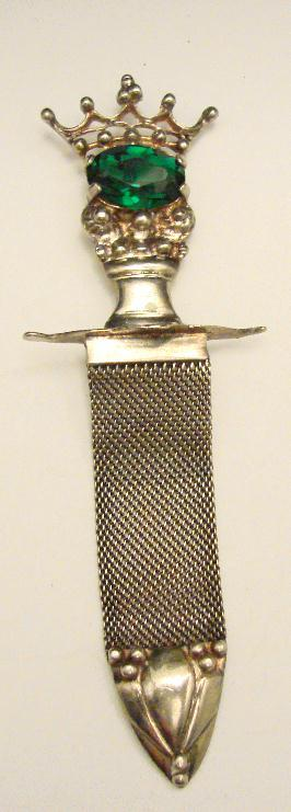 STERLING SWORD PIN - VINTAGE