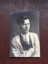 Vintage 1920's Photograph Young Man Suit Lab Coat Studio 21451 Professio... - $13.99