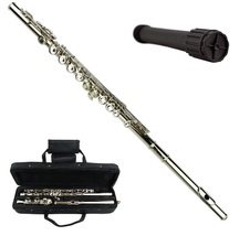 Merano Silver Flute with Zippered Carrying Case + Free Stand - $89.99