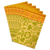 Spring Napkins Set of 6 Summer Home Decor Indian Floral Cotton - $35.99