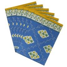 Napkins Set of 6 Cotton Fabric Floral Summer Home Decor Indian - $35.99